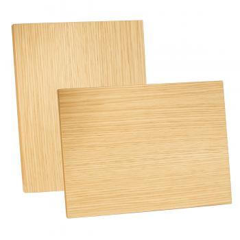 Placa de madera Roble natural (rechapada) Apoyo Metalico varilla, Serie 50840RH (Frontal)