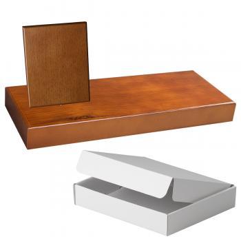Cuña madera rectangular roble avellana con base, serie 70840A-10820 (Frontal)
