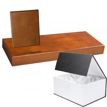 Cuña madera rectangular roble avellana con base, serie 70840G-10820 (Frontal)