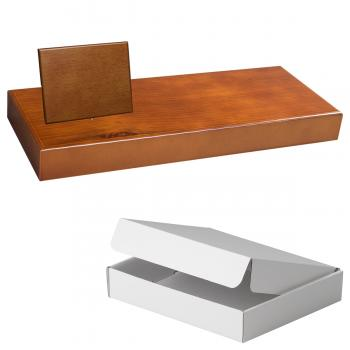 Cuña madera rectangular roble avellana con base, serie 70850A-10820 (Frontal)