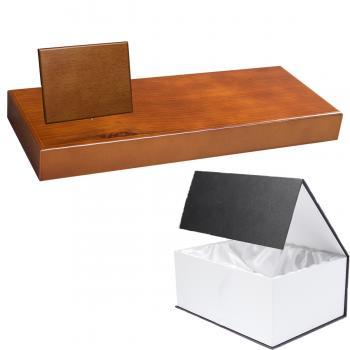 Cuña madera rectangular roble avellana con base, serie 70850G-10820 (Frontal)