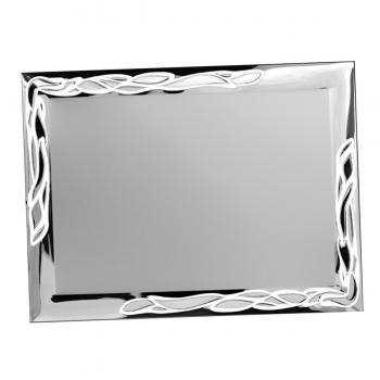 Placa aluminio rectangular plata mate, serie P620 (Frontal)