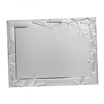 Placa aluminio rectangular plata mate, serie P630 (Frontal)