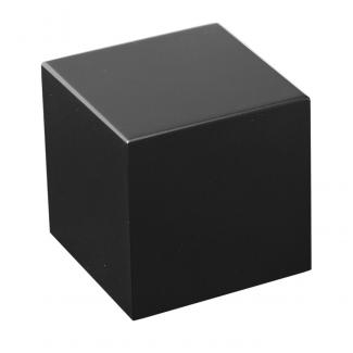 Peana Rectangular Negro Mate, serie 1A110 (Frontal)