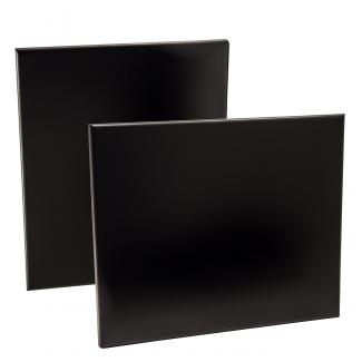 Placa de madera Negro Apoyo metalico varilla, serie 50110 (Frontal)