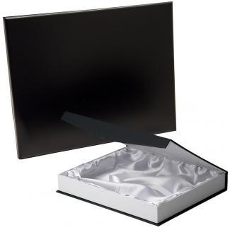 Placa de madera Negro Apoyo metalico varilla, serie 50110B (Frontal)