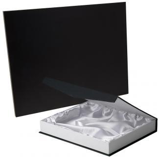 Placa de madera Negro Apoyo metalico varilla, serie 50120B (Frontal)