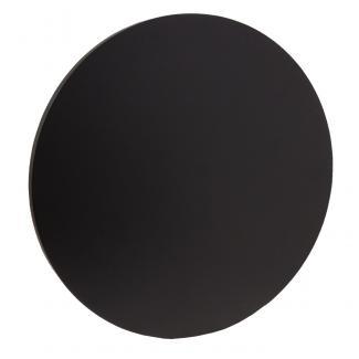Placa de madera Negro Apoyo metalico U, serie 50130 (Frontal)