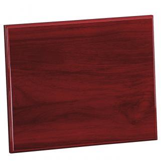 Placa de madera Etimoe Caoba Apoyo madera recto, serie 50200 (Frontal)