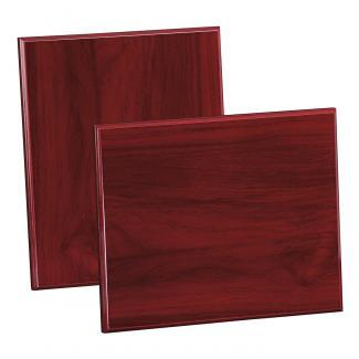 Placa de madera Etimoe Caoba Apoyo metalico varilla, serie 50270 (Frontal)