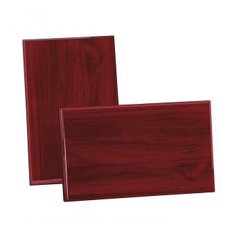 Placa de madera Etimoe Caoba Apoyo metalico varilla, serie 50280 (Frontal)