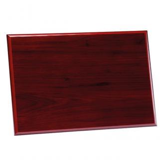 Placa de madera Etimoe Caoba Apoyo madera recto, serie 50310 (Frontal)