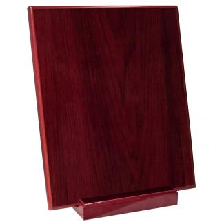Placa madera etimoe caoba con base madera, serie 50290-20280 (Frontal)