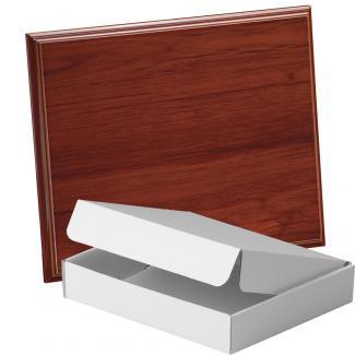 Placa de madera Etimoe Nogal Apoyo metalico varilla, serie 50440A (Frontal)