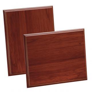 Placa de madera Etimoe Nogal Apoyo metalico U, serie 50450 (Frontal)