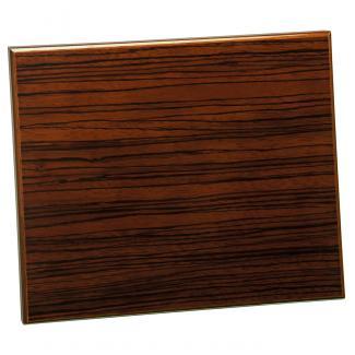 Placa de madera Zebrano Nogal Apoyo madera recto, serie 50570 (Frontal)