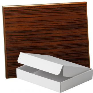 Placa de madera Zebrano Nogal Apoyo madera recto, serie 50570A (Frontal)