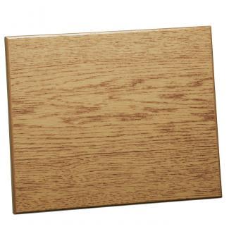 Placa de madera Roble Natural Apoyo metalico varilla, serie 50830 (Frontal)
