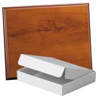 Placa de madera Roble Avellana Apoyo madera corbata, serie 50860A (Frontal)