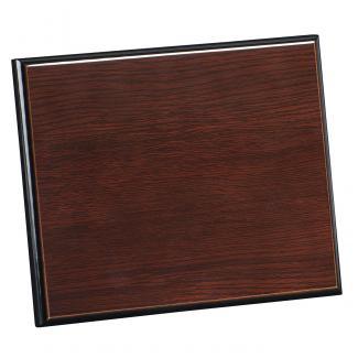 Placa de madera Wengue Apoyo madera recto, serie 50900 (Frontal)