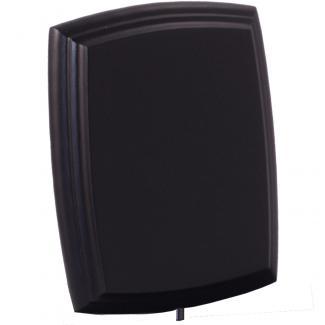 Cuña madera esquinas curvas negro (solo parta alta), serie 70110V (Frontal)