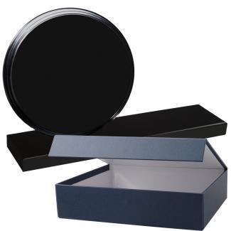 Cuña madera redonda negro con base, serie 70120E-20140 (Frontal)