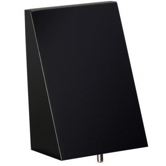 Cuña madera rectangular negro (solo parte alta), serie 70130VA (Frontal)