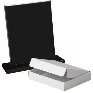 Cuña madera rectangular negro con base, serie 70140A-20140 (Frontal)