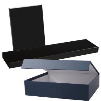 Cuña madera rectangular negro con base, serie 70140E-20140 (Frontal)