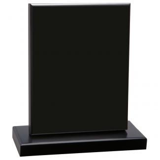 Cuña madera rectangular negro con base, serie 70140VA-20140 (Frontal)