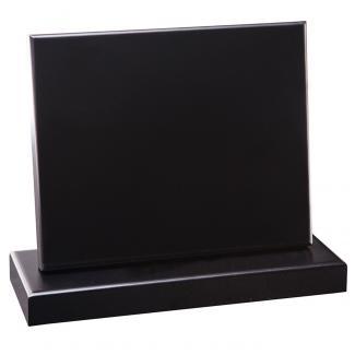 Cuña madera rectangular negro con base, serie 70150-20140 (Frontal)