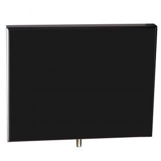 Cuña madera rectangular negro (solo parte alta), serie 70150V (Frontal)