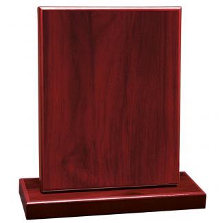 Cuña madera rectangular caoba con base, serie 70230-20150 (Frontal)