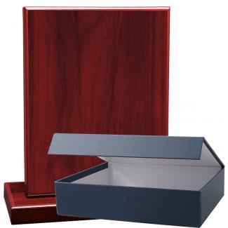 Cuña madera rectangular Caoba con base, serie 70230E-20300 (Frontal)