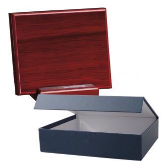 Cuña madera rectangular Caoba con base, serie 70260EH-20260 (Frontal)
