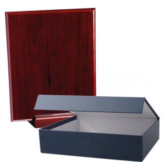 Cuña madera rectangular Caoba con base, serie 70260EV-20260 (Frontal)