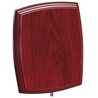 Cuña madera esquinas redondeadas etimoe caoba, serie 70270V (Frontal)