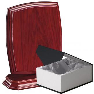 Cuña madera esquinas redondeadas etimoe caoba con base, serie 70270C-20280 (Frontal)
