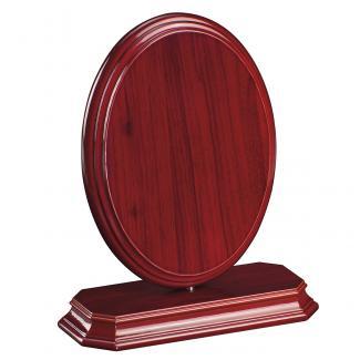 Cuña madera ovalada etimoe caoba con base, serie 70290-20280 (Frontal)