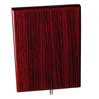 Cuña madera rectangular zebrano caoba (solo parte alta), serie 70300V (Frontal)