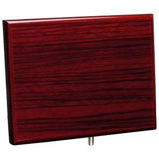 Cuña madera rectangular zebrano caoba (solo parte alta), serie 70310V (Frontal)