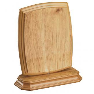 Cuña madera esquinas redondeadas roble natural con base, serie 70810-20800 (Frontal)