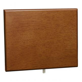 Cuña madera rectangular roble avellana (solo parte alta), serie 70850V (Frontal)
