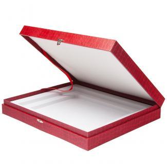 Estuche F, flocado Rojo 20mm, serie 90060 (Frontal)