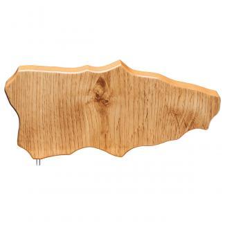 Mapa madera Asturias roble natural (solo parte alta) (Frontal)