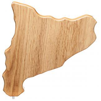 Mapa madera Cataluña roble natural (solo parte alta) (Frontal)