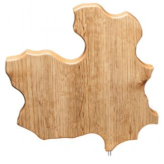 Mapa madera Castilla La Mancha roble natural (solo parte alta) (Frontal)