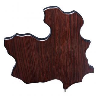 Mapa madera Castilla La Mancha wengue (solo parte alta) (Frontal)