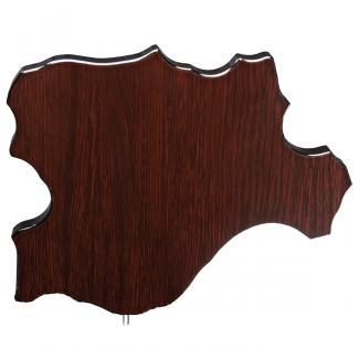 Mapa madera Castilla León wengue (solo parte alta) (Frontal)