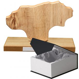 Mapa madera Cantabria roble natural con base (Frontal)